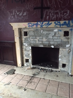 Fireplace in the main entrance